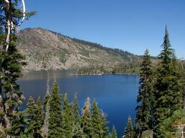 Lake in California Plumas National Forest